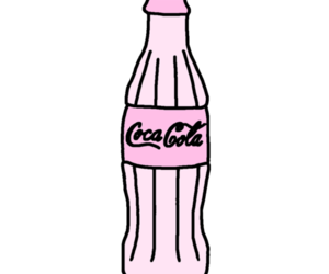 coca cola, pink, and transparent image