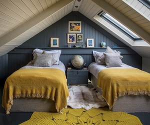 bedroom, interior, and decorations image