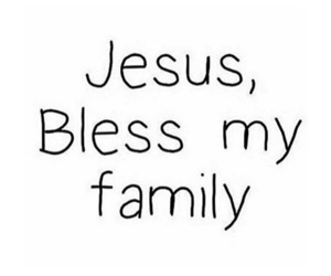 family, jesus, and prayer image