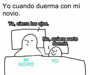 amor, cama, and dormir image