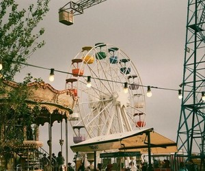 alternative, carousel, and ferris wheel image