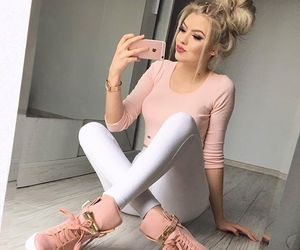 blond girl, fancy, and fashion image
