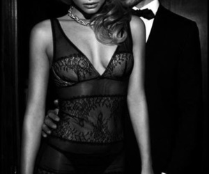 couple, sexy, and black and white image