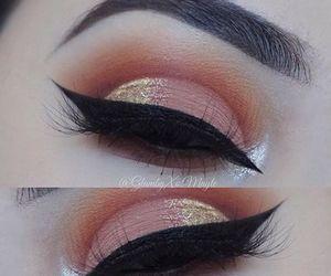 eyeshadow, makeup, and eyebrows image