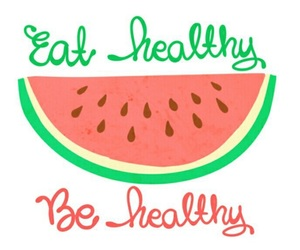 healthy, food, and watermelon image