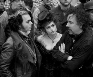 johnny depp, tim burton, and helena bonham carter image