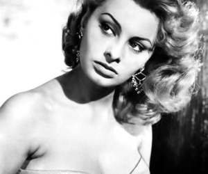 old hollywood and sofia loren image