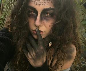 Halloween and halloween makeup image