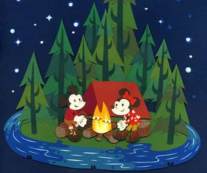 camp, disney, and mickey image
