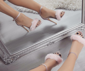 shoes heels fashion, glam glamour luxury, and beauty style pink image