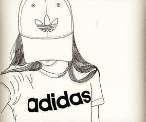 adidas, tumblr, and outline image