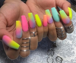 colorful, nails, and pretty image
