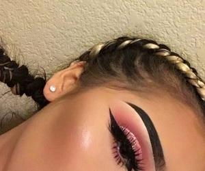 cosmetic, eyebrow, and girls image