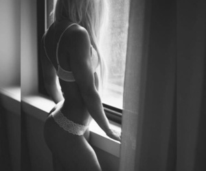 b&w, boudoir, and sexy image