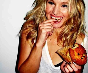 food, kristen bell, and muffin image