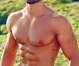 abs, bearded, and summer image