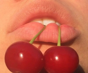 cherry, lips, and aesthetic image