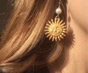 sun, aesthetic, and earrings image