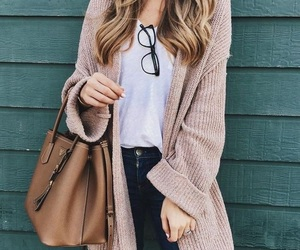 outfit, cardigan, and style image
