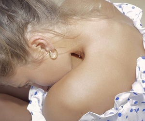 beige, blonde, and details image