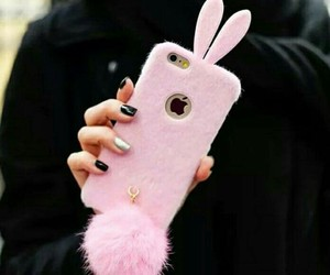 bunny, manicura, and pink image