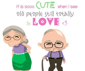love, old people, and old image