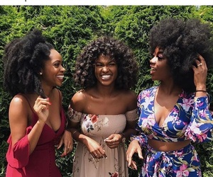 beautiful, natural hair, and black girl magic image