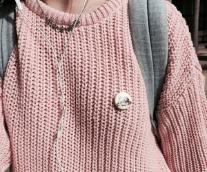 pink, tumblr, and sweater image