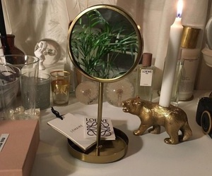 aesthetic, gold, and mirror image