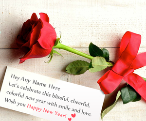happy new year, happy new year 2018, and new year wishes with name image