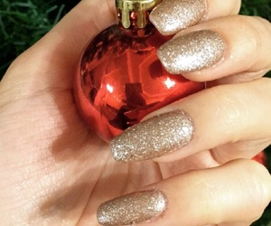 christmas, nails, and love image
