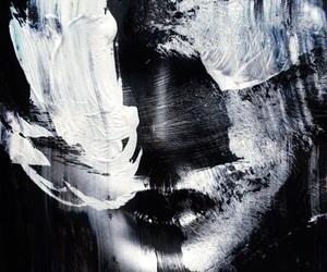 art, creative, and blackandwhite image