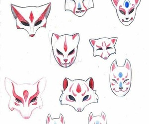 design, drawing, and fox image