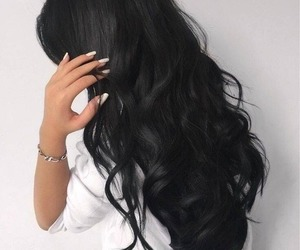 hair, black, and black hair image