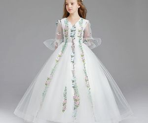 ball gown, classic, and little girl image