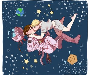 kiss, kpop, and space image