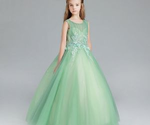 ball gown, tulle, and wedding party dress image