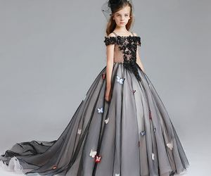 ball gown, Prom, and tulle image