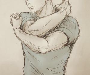 anime, boy, and drawing image