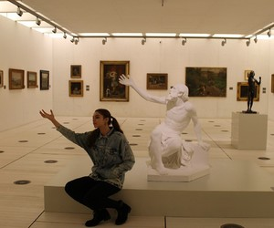 girl, museum, and galicia image