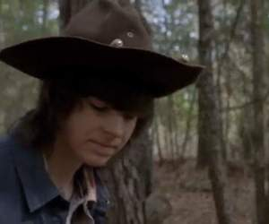 carl, zombies, and amc image