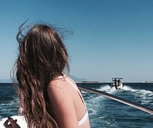 bikini, boat, and fashion image