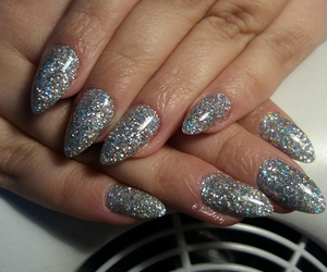 fashion, glitter, and nail art image