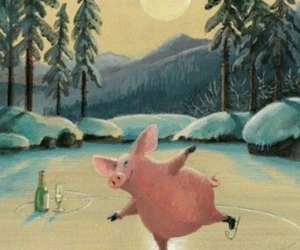 fun, pig, and Silvester image