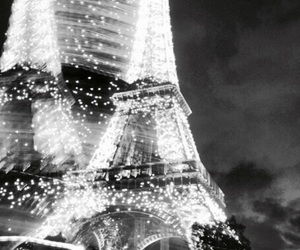paris, lights, and eiffel tower image