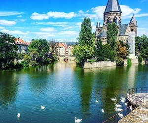 city, france, and cygne image