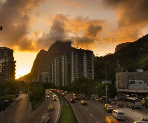 brasile, riodejaneiro, and coucherdesoleil image