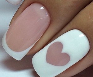 nails, nail art, and heart image