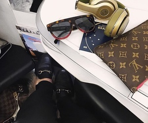 airplane, beats, and gucci image