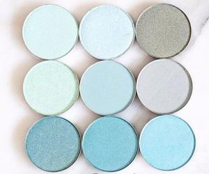 eyeshadow, blue, and makeup image